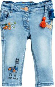 Jeans Skinny Fit mit Stickereien , Lama Gr. 98/104 Mädchen Kleinkinder