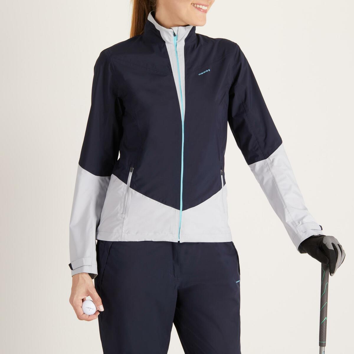 Bild 2 von Golf Regenjacke 900 Damen marineblau/grau wasserdicht