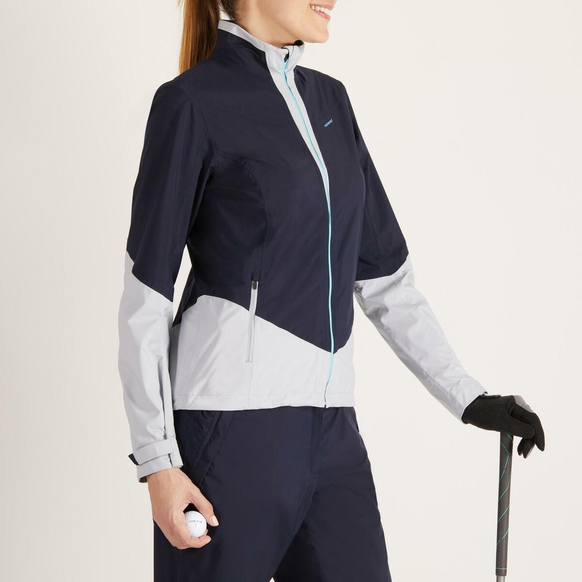Bild 3 von Golf Regenjacke 900 Damen marineblau/grau wasserdicht