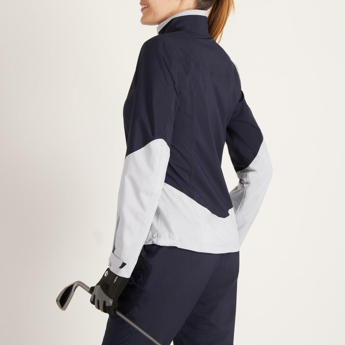 Bild 5 von Golf Regenjacke 900 Damen marineblau/grau wasserdicht