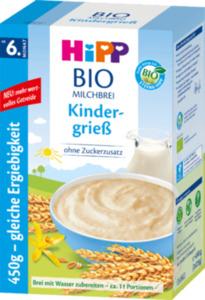 Hipp Bio Milchbrei Kindergrieß ab 6. Monat