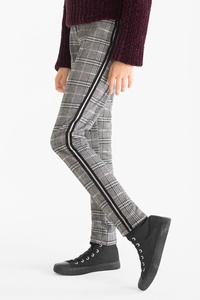 Here and There        Leggings - kariert - Glanz Effekt