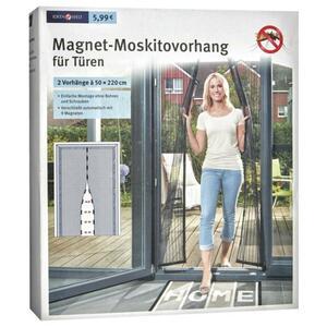 IDEENWELT Magnet-Moskitovorhang für Türen anthrazit