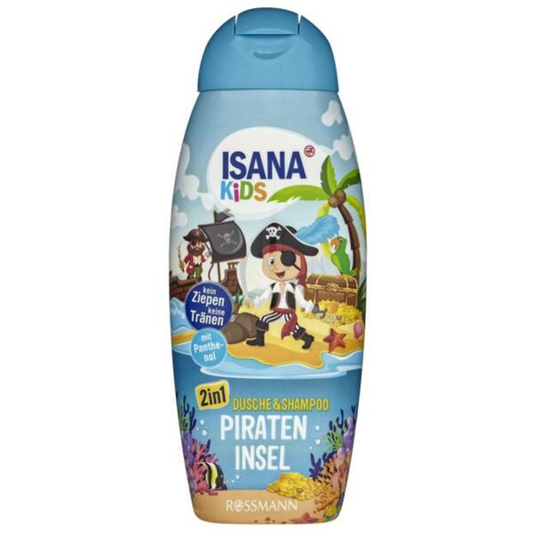ISANA Kids 2in1 Dusche & Shampoo Pirateninsel 4.30 EUR/1 l