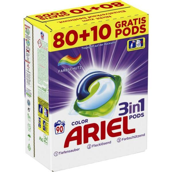 Ariel 3in1 Pods Colorwaschmittel, 90 WL 0.22 EUR/1 WL