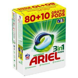 Ariel 3in1 Pods Universal Strahlend Rein, 90 WL 0.22 EUR/1 WL
