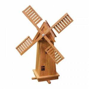 Holz-Windmühle