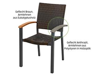 GARDENLINE®  Geflecht-Stapelstuhl