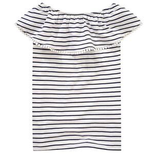 Mädchen T-Shirt mit Carmen-Ausschnitt