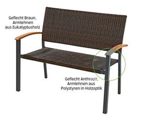 GARDENLINE®  Geflecht-Gartenbank