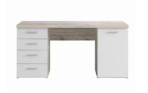 HARDi - Schreibtisch in Sandeiche-Optik/weiß