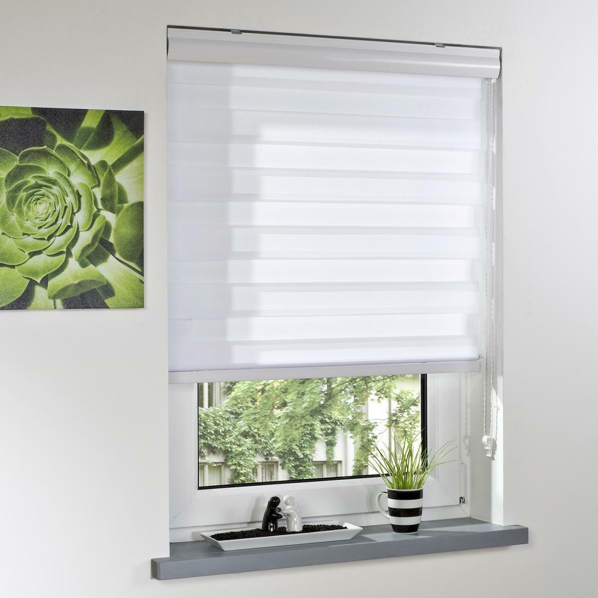 Bild 2 von Bella Casa Duo-Rollo mit Blende, Rollo, lichtdurchlässig, Sonnenschutz, 140 x 160 cm weiß