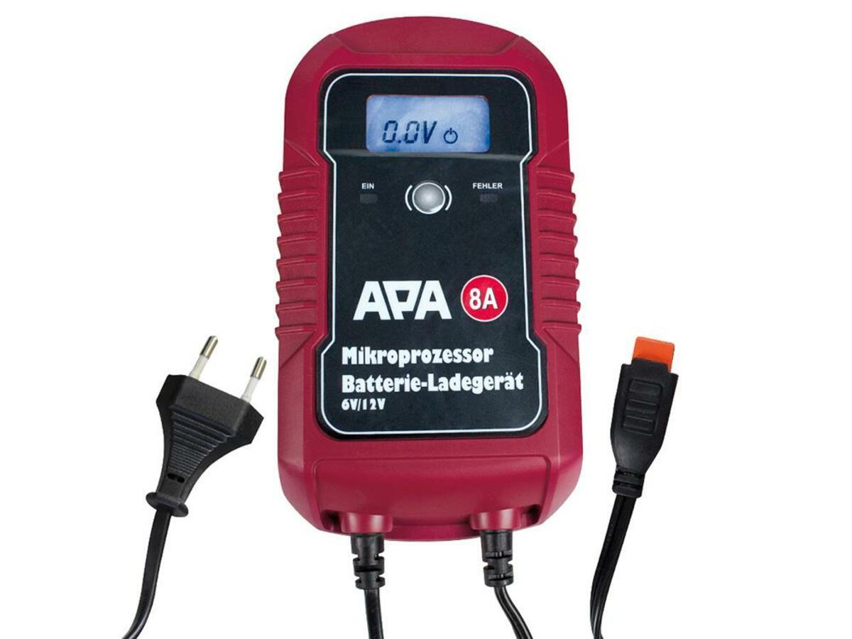 Bild 1 von APA Mikroprozessor Batterie-Ladegerät 6/12V 8A