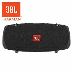 Bluetooth®-Stereo-Lautsprecher Xtreme2 • 2 x 20 Watt RMS • wasserfest (IPX7) • bis zu 15 h Musikwiedergabe • Freisprech-Funktion • JBL Connect +, Bass-Strahler • robustes Gummigehäuse