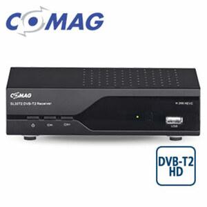 FullHD-DVB-T2-Receiver SL30T2 PVRready HEVC/H.265, bis 1080p möglich, EPG, Aufnahme-Funktion über USB (PVRready), HDMI-/Scart-/USB-Anschluss