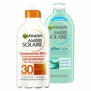 Ambre Solaire After Sun Feuchtigkeits-Milch oder Sonnenschutzmilch LSF 30 jede 400/200-ml-Flasche