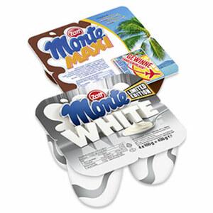 Zott Monte Maxi Milch-Dessert + Schoko oder White jede 4 x 100 g = 400-g-Packung