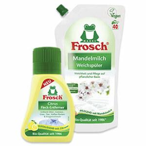 Frosch Fleck-Entferner 75ml oder Weichpüler 40 Waschladungen, versch. Sorten, jede Flasche