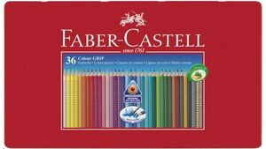 FABER-CASTELL Farbstift Grip Colour 36er-Metalletui