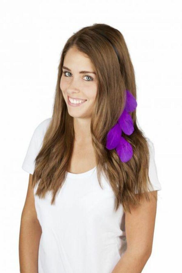 Faschingsschmuck - Haarreif mit Federn