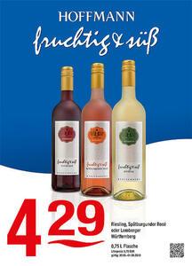 Hoffmann fruchtig & süß Wein-Edition Riesling, Spätburgunder Rosé oder Lemberger Württemberg