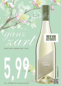 ganz zart Weißwein-Cuvée 9,5% Vol. Weingut Pfaffl Österreich