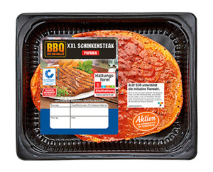 """BBQ XXL Schweinesteak, mariniert """"Paprika"""""""