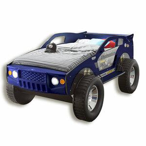 Autobett JEEP - blau - mit Beleuchtung - 90x200 cm