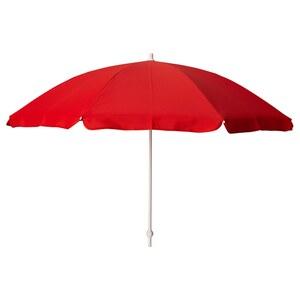 RAMSÖ                                Sonnenschirm, rot, 125 cm