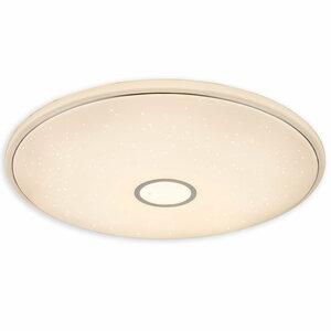LED-Deckenleuchte - weiß - Chromring - Ø 79 cm