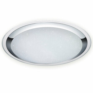 LED-Deckenlampe MIKO - weiß-chrom - dimmbar