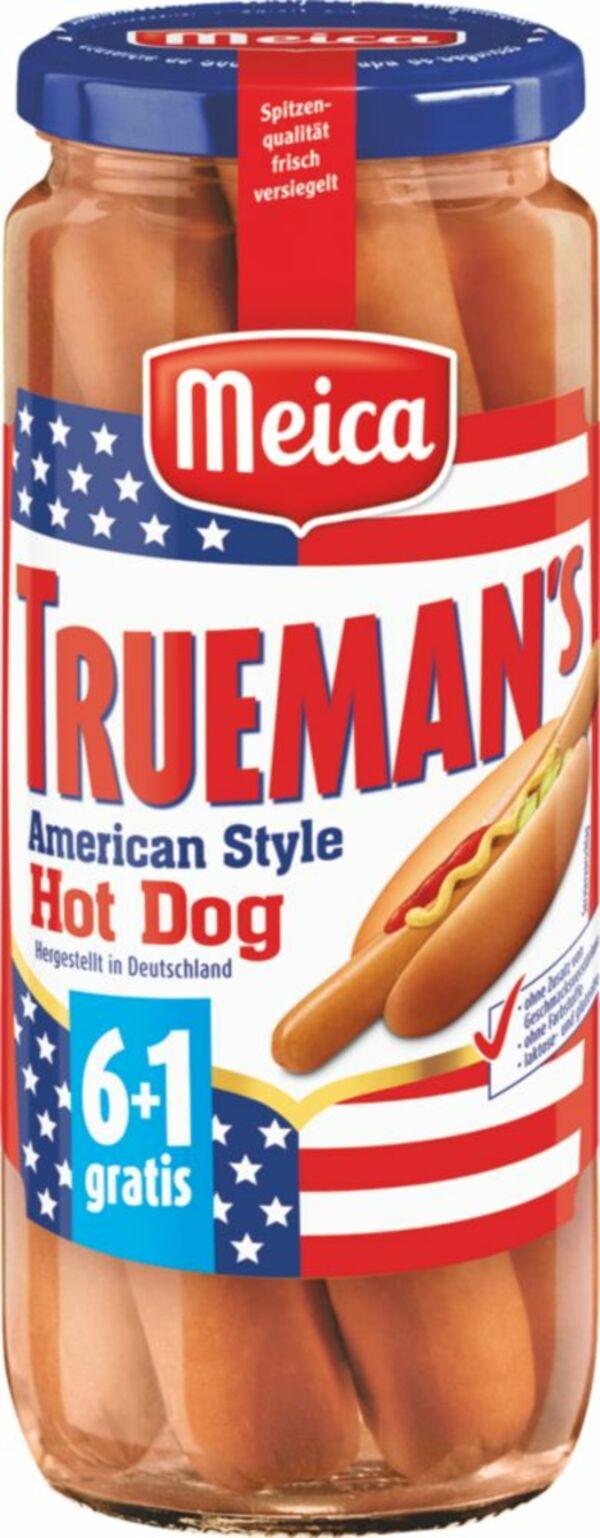 Meica Truemans Hot Dog-Würstchen 6+1 350g