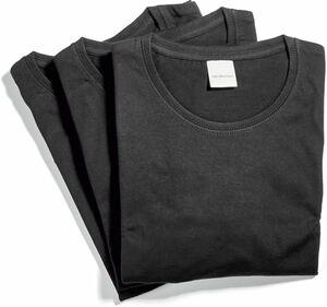 Spirit of colours Herren T-Shirt, 3er Pack - schwarz, Gr. M
