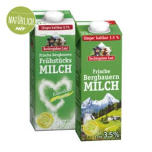 Berchtesgadener Land Frische Bergbauern Milch 1,5% / 3,5 % Fett