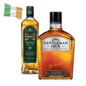 Jack Daniels Gentleman Jack Tennessee Whiskey oder Bushmills 10 J. Irish Whiskey