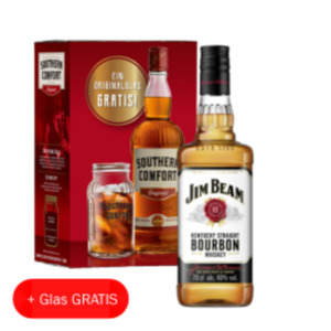 Jim Beam White Bourbon Whiskey, Honey, Red Stag oder Southern Comfort