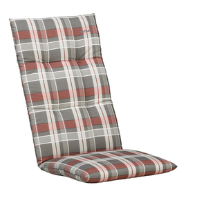 Kettler Sesselauflage ; Farbe: Grau / Rot / Weiß ; Maße (LXB): 120 cm / 48 cm