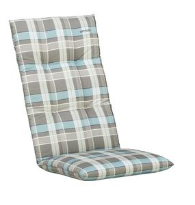 Kettler Sesselauflage ; Farbe: Grau / Türkis / Weiß ; Maße (LXB): 120 cm / 48 cm