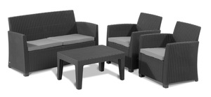 Corona Lounge-Set Graphitgrau