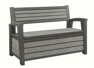 Keter Sitztruhe Hudson H 89 x B 132,7 x T 61,2 cm, grau/anthrazit
