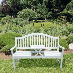 Garden Pleasure Bank + Tisch Garten Terrasse Parkbank Sitzbank Eukalyptus Holz