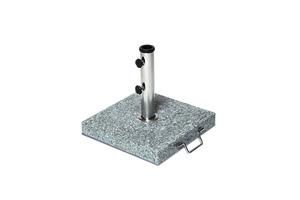 Merxx Schirmständer Granit, 10 KG - Farbe: naturgrau - Maße: Ø 48,38,26 mm; 29120-10