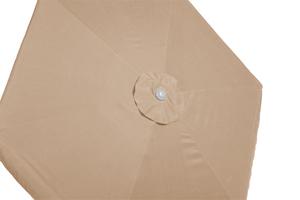 Merxx Sonnenschirm Gartenschirm Marktschirm Ampelschirm Schirm 270 cm beige mit Kurbel; 29054-311