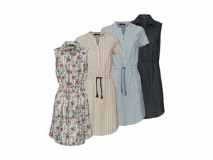 ESMARA® Damen Leinen-Kleid
