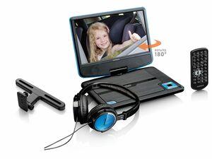 """Lenco DVP-910 Tragbarer 9""""-DVD-Player mit fester Autohalterung und Kopfhörer"""