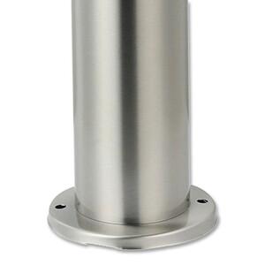 Edelstahl-Gartensteckdosensäule mit 2 Steckdosen 30 cm
