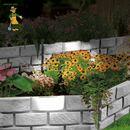 Bild 1 von Grüner Jan Beeteinfassung mit Solarleuchte 4-teilig Grau