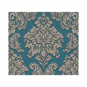 AS_Creation -             A.S. Création Vliestapete Metropolitan Stories 'Lizzy' London, Damask topasblau-taupe 10,05 x 0,53 m