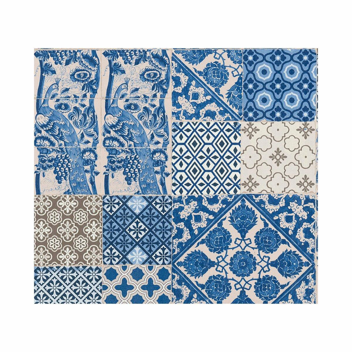 Bild 1 von AS_Creation -             A.S. Création Vliestapete Metropolitan Stories 'Anke & Daan' Amsterdam, Delfter Fliese blau-beige 10,05 x 0,53 m
