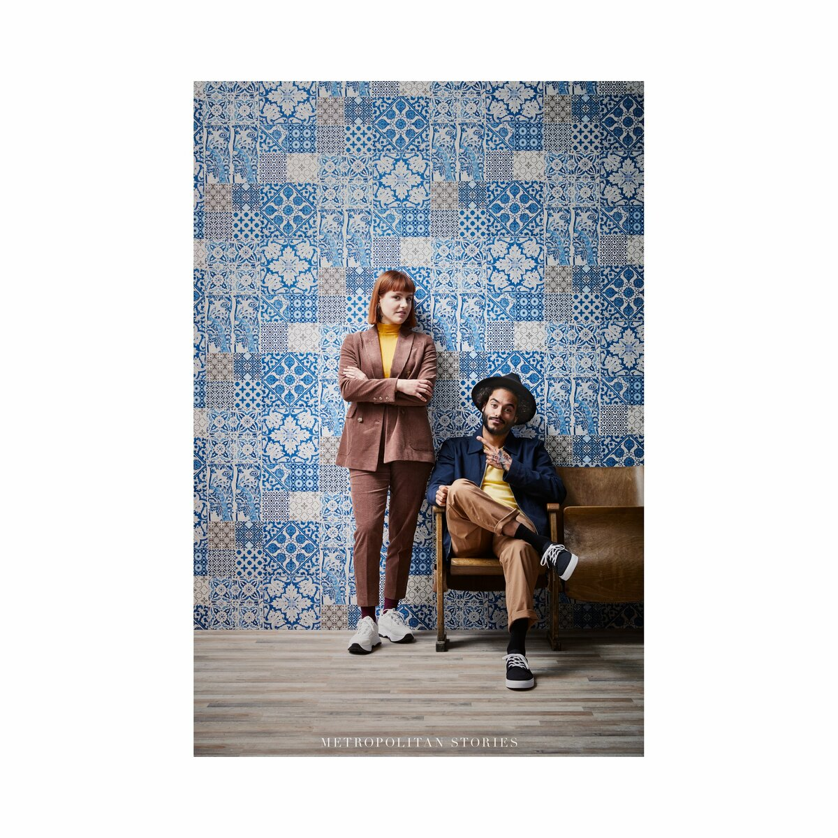 Bild 4 von AS_Creation -             A.S. Création Vliestapete Metropolitan Stories 'Anke & Daan' Amsterdam, Delfter Fliese blau-beige 10,05 x 0,53 m